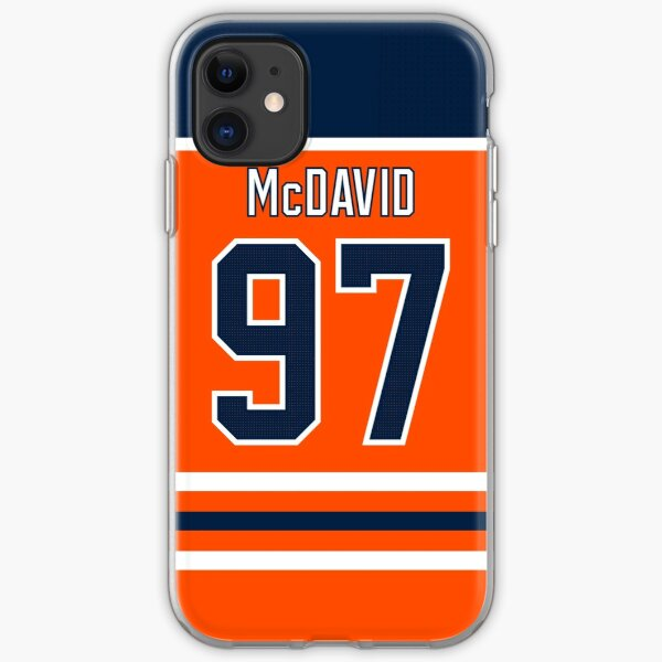 Edmonton Oilers Connor McDavid Home Jersey Back Phone Case iPhone Soft Case