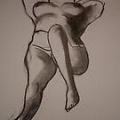 Charcoal Nude1 by Paul Starkey