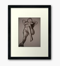 Charcoal Nude1 Framed Print