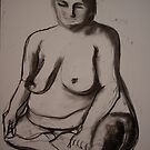 Charcoal Nude4 by Paul Starkey