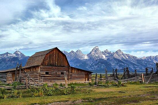Grand Tetons Famous Barn by Teresa Zieba