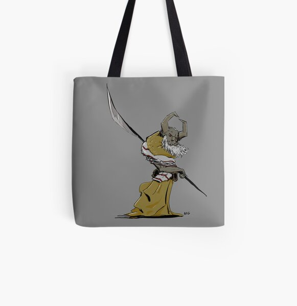 Horned Poleman All Over Print Tote Bag