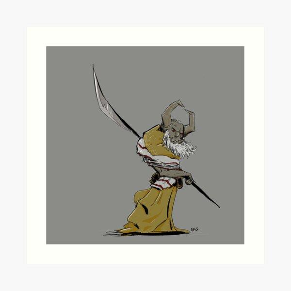 Horned Poleman Art Print