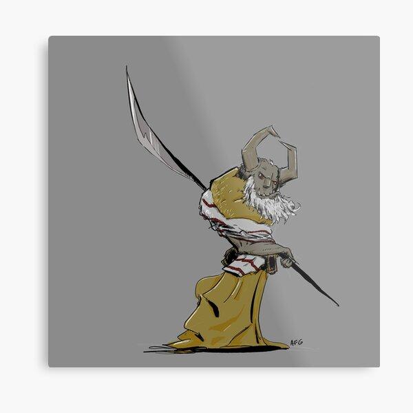 Horned Poleman Metal Print