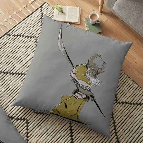 Horned Poleman Floor Pillow
