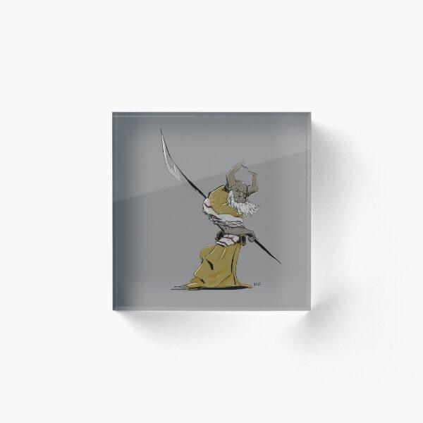 Horned Poleman Acrylic Block