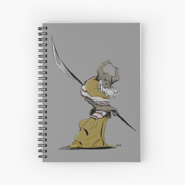 Horned Poleman Spiral Notebook