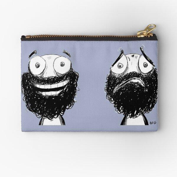 Happy and Sad Zipper Pouch