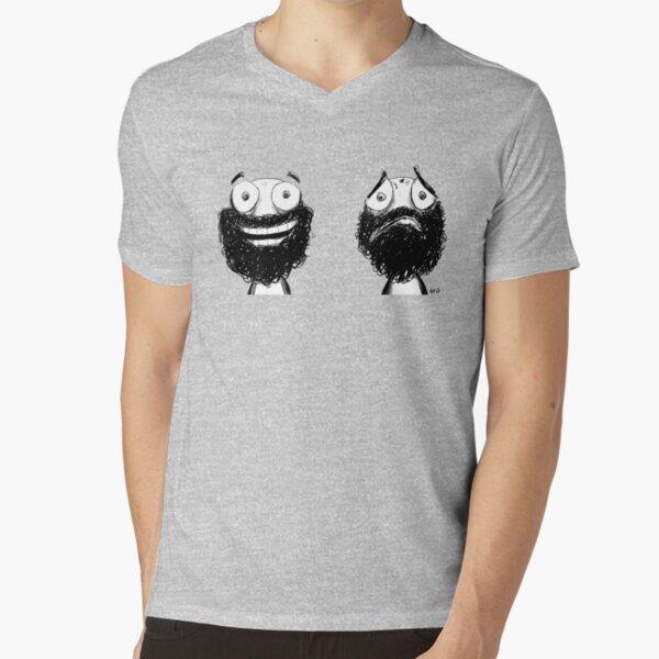 Happy and Sad V-Neck T-Shirt