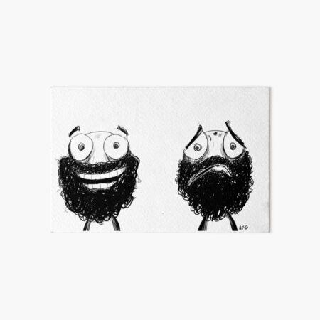 Happy and Sad Art Board Print