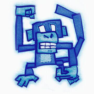 Blue monkey by DeadlyPancake
