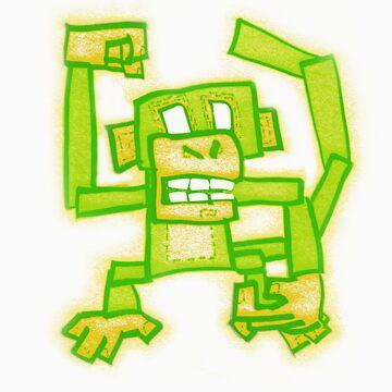 Green Monkey by DeadlyPancake