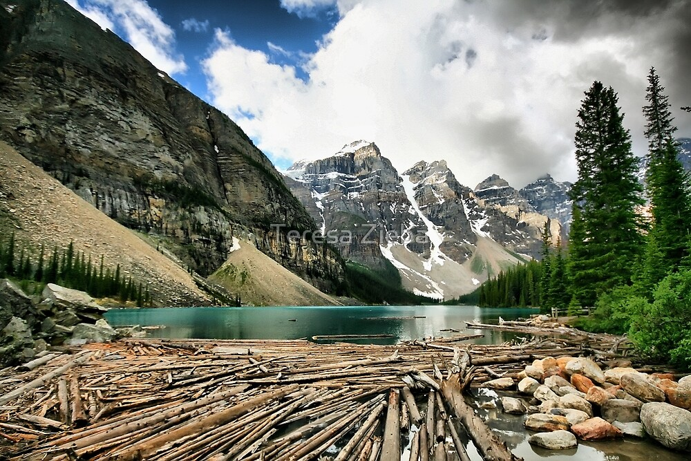 Famous Moraine Lake by Teresa Zieba