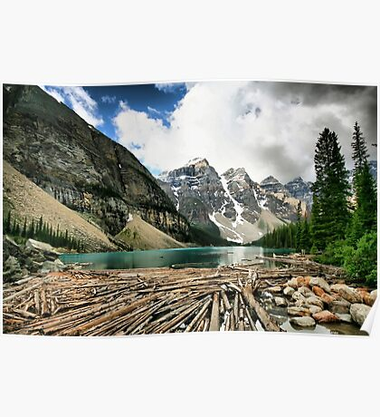 Famous Moraine Lake Poster
