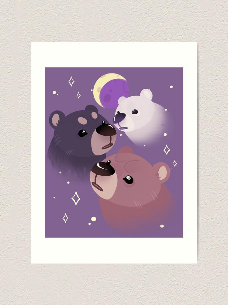 Alternate view of Three Bear Moon Art Print