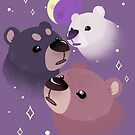 Drei Bären Mond von Krista Schmidt