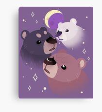 Three Bear Moon Canvas Print