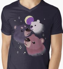 Three Bear Moon V-Neck T-Shirt