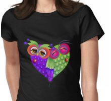 Owl's love Womens Fitted T-Shirt