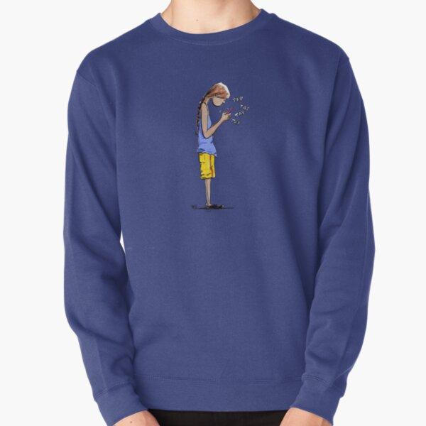 Texting Pullover Sweatshirt