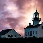 Lighthouse at Sunset by Marylou Badeaux