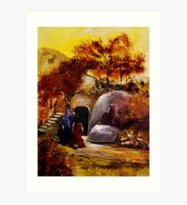 Mary, Mary And Salome At The Tomb Of Jesus Art Print