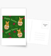 Putziges Ostermuster Postkarten