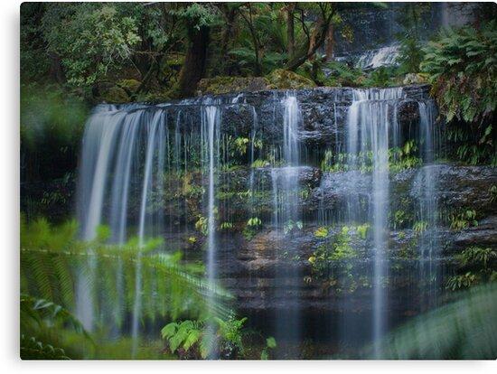 russell falls, tasmania by col hellmuth