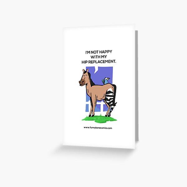 No contento con mi diseño de caballo de cebra de reemplazo de cadera Tarjetas de felicitación