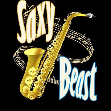 Saxophone Player Musician - Jazz , Pop, Blues Band Member Music Teacher & Students Saxy Beast Gifts by vince58
