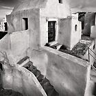 The humble Acropolis of Pyrgos village - Santorini, Greece. by Hercules Milas