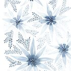 Winter Flowers   Watercolour Painting by ChipiArtPrints