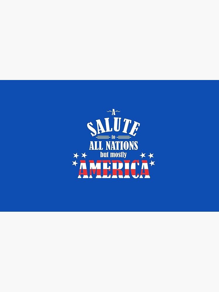 Un saludo a todas las naciones (pero principalmente a los Estados Unidos) de NevermoreShirts