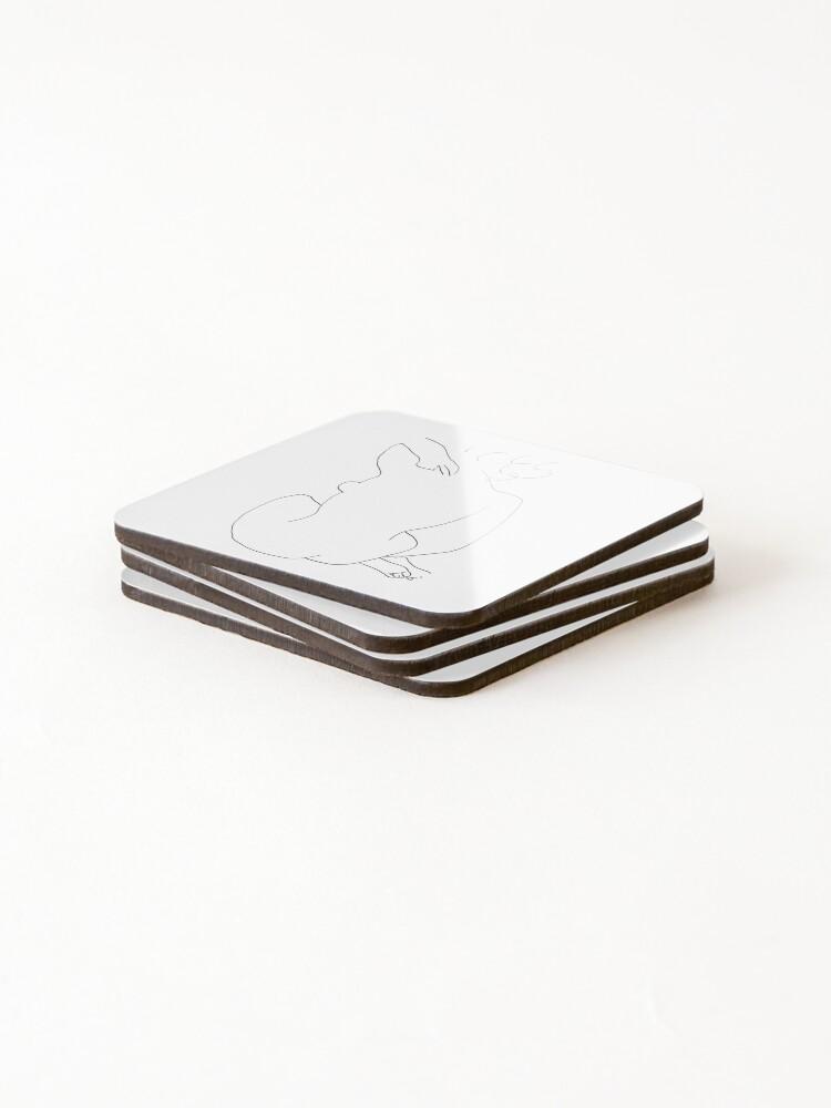 Alternate view of Matisse Line Art Figure 2 Coasters (Set of 4)