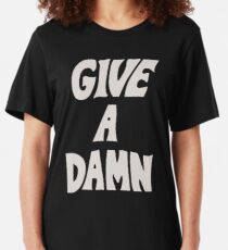 Give A Damn As Worn By Alex Turner White Slim Fit T-Shirt