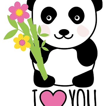 This panda also loves you by Petitxuilus