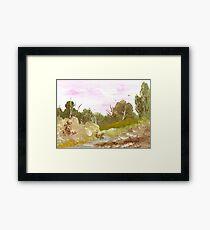 Escape to the Landscape Framed Print