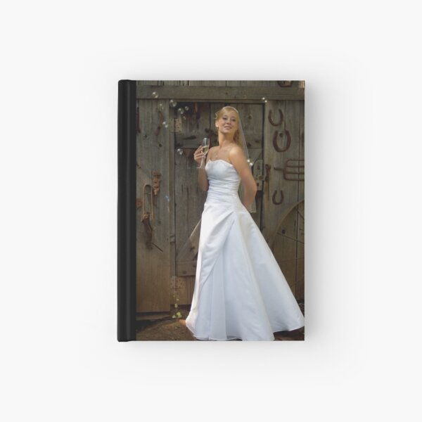 Bride with Bubbles Hardcover Journal