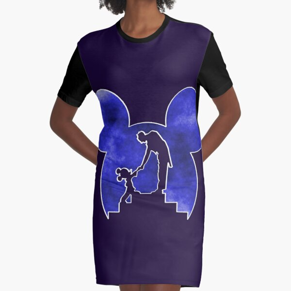 The Mouse and the Conductor Graphic T-Shirt Dress