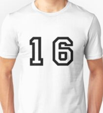 Number Sixteen Unisex T-Shirt