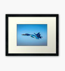 The Beautiful Blue Ukrainian Sukhoi Su-27 Military Jet Fighter Aircraft Framed Print