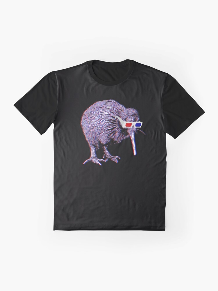 Alternate view of Kiwi Anaglyph  Graphic T-Shirt