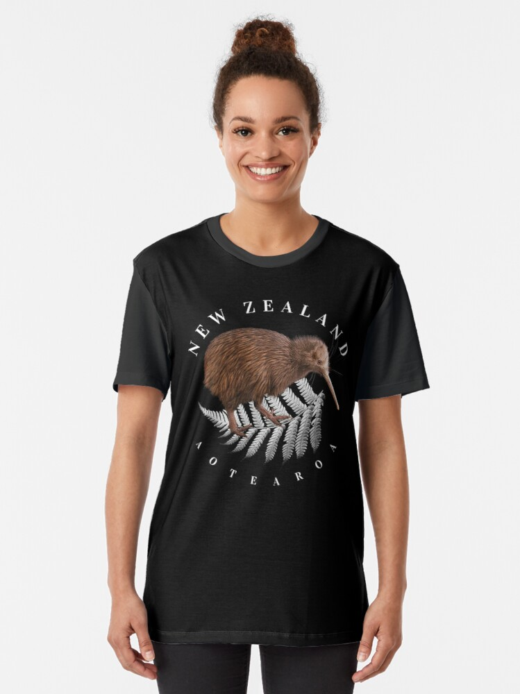 Alternate view of New Zealand Aotearoa Graphic T-Shirt