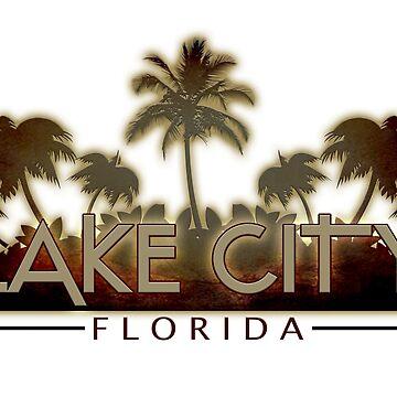 Lake City Florida palm tree words by artisticattitud
