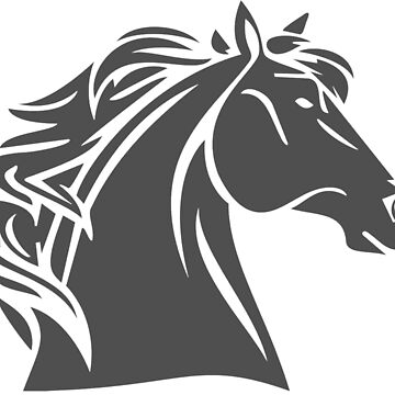 Horse Head (Grey) by procrest