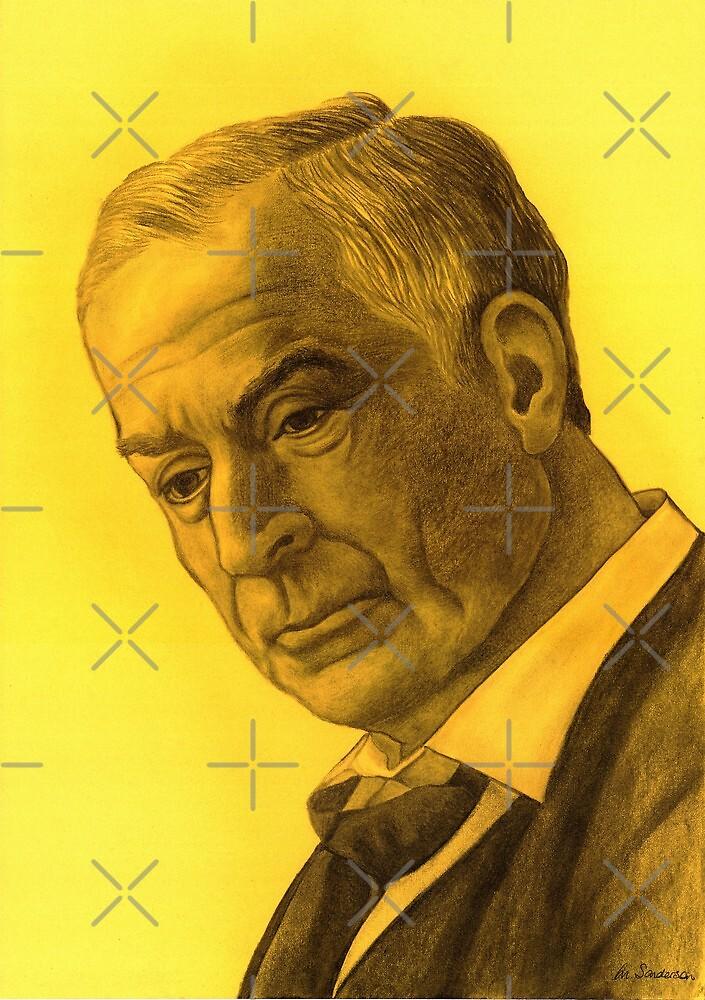 Michael Caine celebrity portrait 210 views by Margaret Sanderson