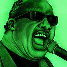 Stevie Wonder celebrity portrait 129 views by Margaret Sanderson