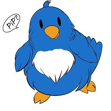 """PIP PIP!"" Spring birdsong in blue!  by SharonMurphy"