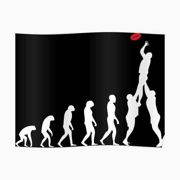 Rugby Evolution De L'homme Poster