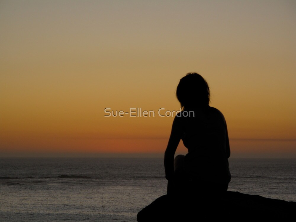 Just a time to reflect at the beach by Sue-Ellen Cordon